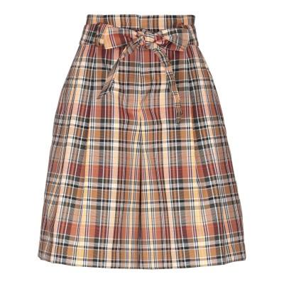 NATAN ひざ丈スカート ブラウン 38 ポリエステル 57% / コットン 43% ひざ丈スカート