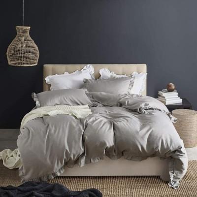 everso 布団カバー シングル 3点セット フリル付き シーツカバー 寝具カバーセット 洋式・和式兼用 ベッドカバー ックスシーツ 枕カバー 敷き