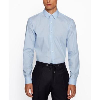 ヒューゴボス シャツ トップス メンズ BOSS Men's Isko Slim-Fit Shirt Light/Pastel Blue