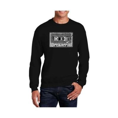 エルエーポップアート メンズ パーカー・スウェット アウター Big & Tall Men's Word Art The 80's Crewneck Sweatshirt