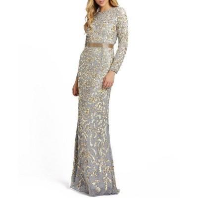 マックダガル ワンピース トップス レディース Allover Sequin Gown Platinum/Gold
