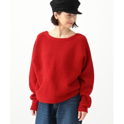 (BEAMS OUTLET/ビームス アウトレット)THE IRON / バックVレースニット/レディース RED