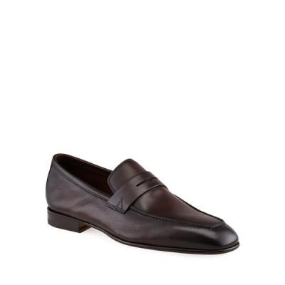 サントーニ メンズ スリッポン・ローファー シューズ Men's Imam Soft Burnished Leather Penny Loafers