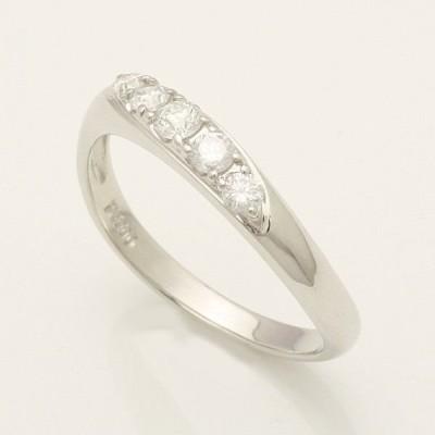 5石 0.25ct ダイヤモンド リング  Pt900  プラチナ 93358P**