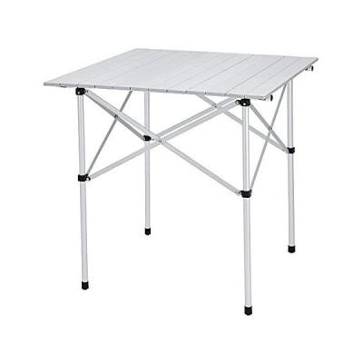 FUNDANGO キャンプテーブル アルミ ロールテーブル 70×70×70 折りたたみ バーベキューテーブル コンパクト ピクニック BB