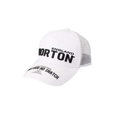 [ノートン] Norton 帽子 ストリート 3D刺繍 メッシュ キャップ 212N8701 ホワイト F