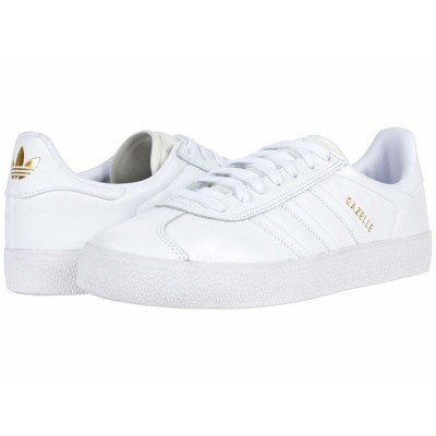 アディダス スニーカー シューズ メンズ Gazelle Advantage White/White/Gold Metallic