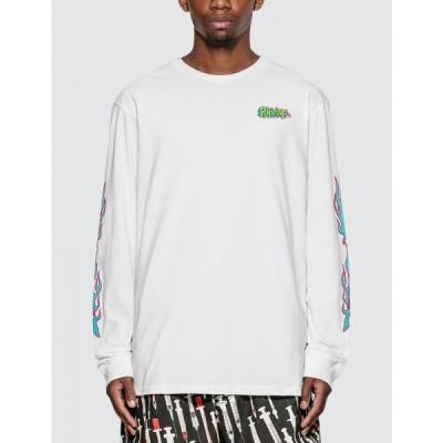 リップンディップ RIPNDIP メンズ 長袖Tシャツ トップス flaming hot long sleeve t-shirt White