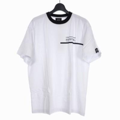 【中古】未使用品 スタンプド STAMPD × セルジオタッキーニ SERGIO TACCHINI CHASE TEE プリント Tシャツ L 白