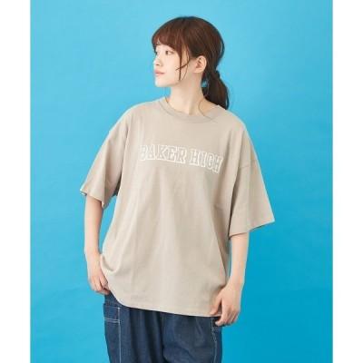 tシャツ Tシャツ OE天竺空紡糸 プリント ビッグTシャツ