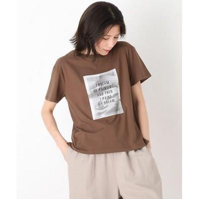 <SHOO LA RUE(Women)/シューラルー> プリント半袖Tシャツ チャ043【三越伊勢丹/公式】