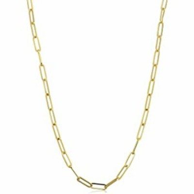 """Womens 14K Yellow Gold Paperclip Elongated Open Link Cable Chain Necklace 1.5MM - 6MM, 16"""" - 30"""", Gold Chain Necklace for Women,"""