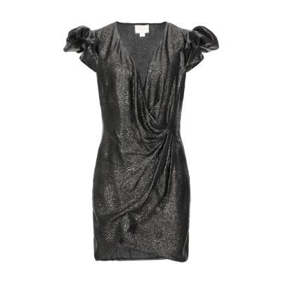 REDEMPTION ミニワンピース&ドレス ブラック 42 シルク 76% / Lurex® 24% ミニワンピース&ドレス