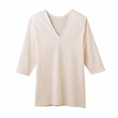 グンゼ 肌着 レディース 快適工房 インナーウェア 7分袖 綿100% 縫い目表側 V型 七分袖スリーマー KH5146 婦人 女性 GUNZE