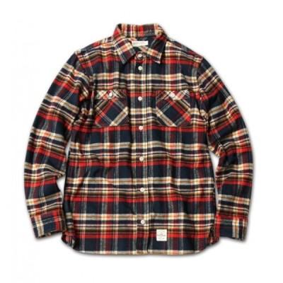 MAGICNUMBER RADICAL 50/50 LINE  Heavy Flannel Tartan Check Shirts