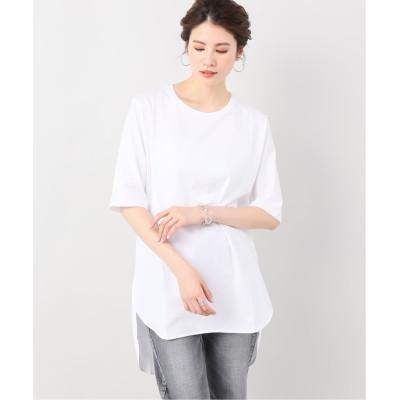 レディース ヴェルメイユ パー イエナ 【ATON/エイトン】ROUND HEM Tシャツ◆ ホワイト フリー