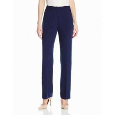 ファッション パンツ Kasper Womens Dress Pants Navy Blue Size 6 Tab Front Straight Stretch