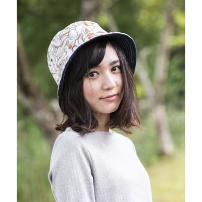 帽子 ハット 【クレ】リバーシブル リーフ バケット ハット