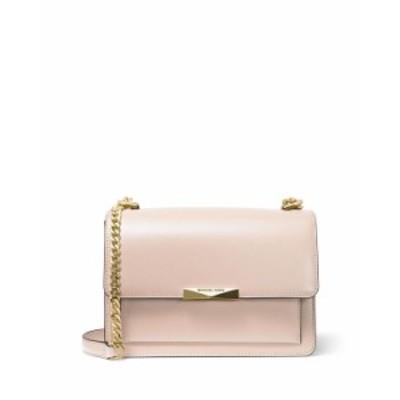 マイケルコース レディース ショルダーバッグ バッグ Jade Large Leather Gusset Shoulder Bag PINK