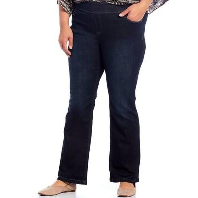 ウエストバウンド レディース カジュアルパンツ ボトムス Plus Size the PARK AVE fit Denim Mid-Rise Bootcut Pants