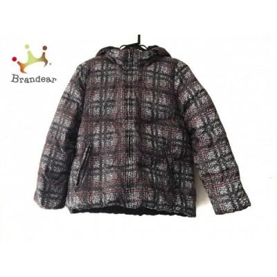 ダーマコレクション ダウンジャケット サイズ13 L レディース 美品 グレー×レッド×白 冬物 新着 20200407