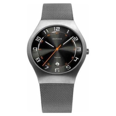 ベーリング 腕時計 Bering Time Classic クラシック メンズ Titanium Case Mesh Watch w/ Black Dial 11937-007