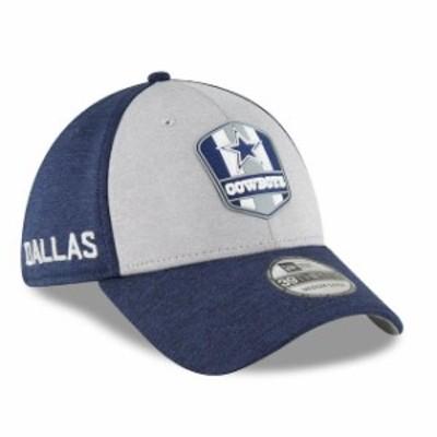 New Era ニュー エラ スポーツ用品  New Era Dallas Cowboys Heather Gray/Navy 2018 NFL Sideline Road Official 39THIRTY Flex Hat