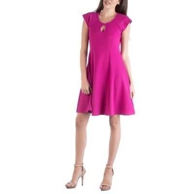 24セブンコンフォート ワンピース トップス レディース Scoop Neck A-Line Dress with Keyhole Detail Pink