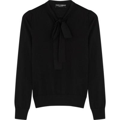 ドルチェ&ガッバーナ Dolce & Gabbana レディース ニット・セーター トップス Black Fine-Knit Cashmere-Blend Jumper Black
