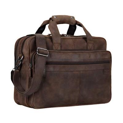 STILORD 'Atlantis' Leather Business Bag Large Vintage Teacher Bag Large Leather Business Bag for Trolley Attachable Genuine Leather, Colour:Missouri -