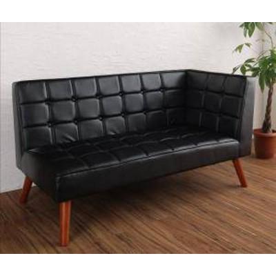 ソファー 2人掛け 2人用 ダイニングベンチ 食事 ダイニングチェア 椅子 おしゃれ 安い レザー 革 合皮 ( 片肘 左アーム ) 140cm ボックス