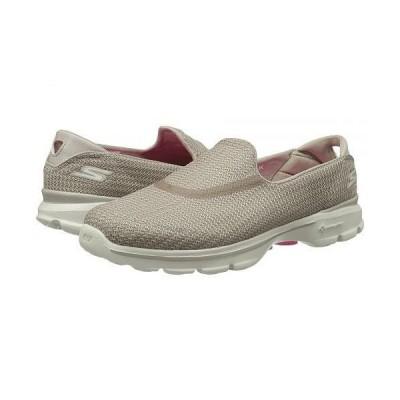 SKECHERS Performance スケッチャーズ レディース 女性用 シューズ 靴 スニーカー 運動靴 Go Walk 3 - Stone