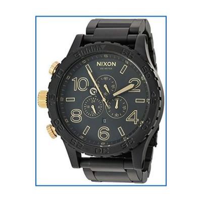 Nixon 51-30 Chrono Matte Black/Gold Men's Underwater Stainless Steel Watch (51mm. Black & Gold Face/Matte Black Stainless Steel Band)[並