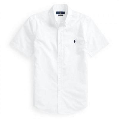 ラルフ ローレン Polo Ralph Lauren メンズ 半袖シャツ トップス Poplin Short Sleeve Shirt White