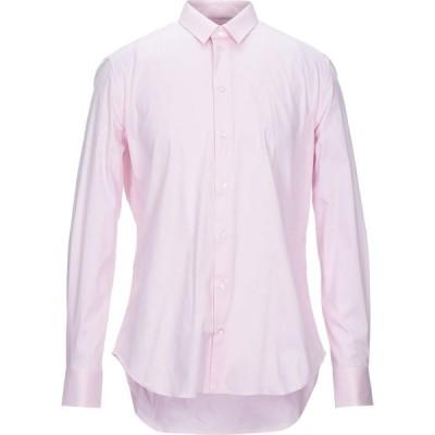 アルマーニ EMPORIO ARMANI メンズ シャツ トップス solid color shirt Pink