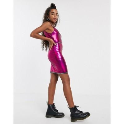 ワンアボーブアナザー ミニドレス レディース One Above Another bodycon cami mini dress with diamante trim エイソス ASOS ピンク