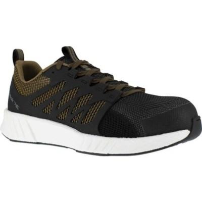 リーボック スニーカー シューズ メンズ Fusion Flexweave Work RB4313 Comp Toe Sneaker (Men's) Brown Knit