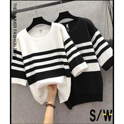 大きいサイズXL-5XL ファッション/人気トップス ブラック/ホワイト2色展開