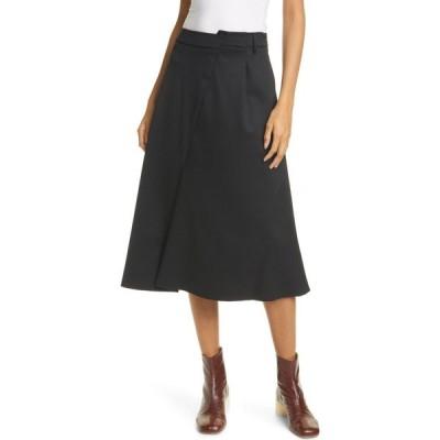 メゾン マルジェラ MM6 MAISON MARGIELA レディース スカート Asymmetrical Waist Skirt Black