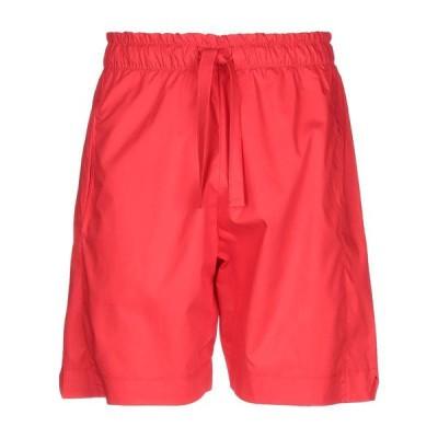 NINEMINUTES ショートパンツ&バミューダパンツ  メンズファッション  ボトムス、パンツ  ショート、ハーフパンツ レッド