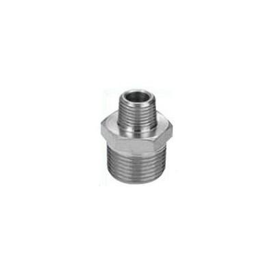 ナゴヤ ステンレス製ねじ込み管継手 六角異径ニップル  3/8×1/4インチ