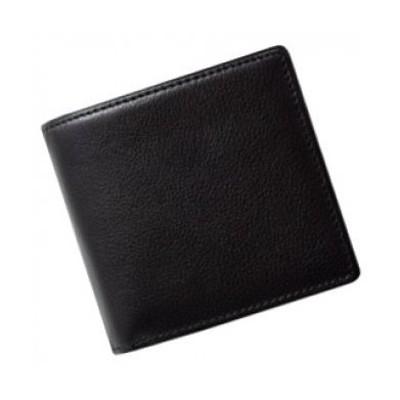 SOMES FE-12 2つ折財布(ブラック)