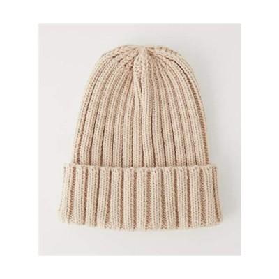 アズールバイマウジー 帽子 キャップ WIDE RIB KNIT CAP 250CAA56-177H FREE ベージュ レディーズ