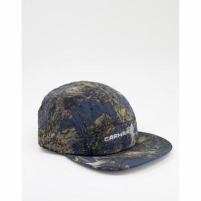 カーハート Carhartt WIP メンズ キャップ 帽子 terra 5 panel cap in camo グリーン