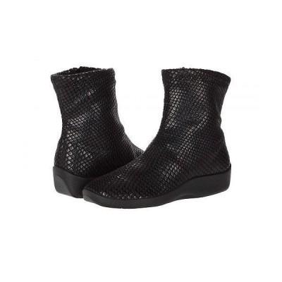 Arcopedico アルコペディコ レディース 女性用 シューズ 靴 ブーツ アンクル ショートブーツ Lux - Black Shine