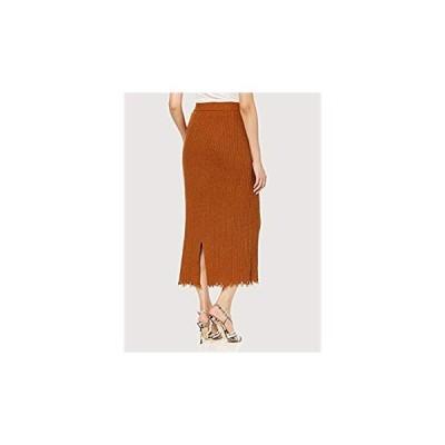 ローズバッド スカート リブニットスカート レディース 6009134044 ブラウン 日本-(Free サイズ)