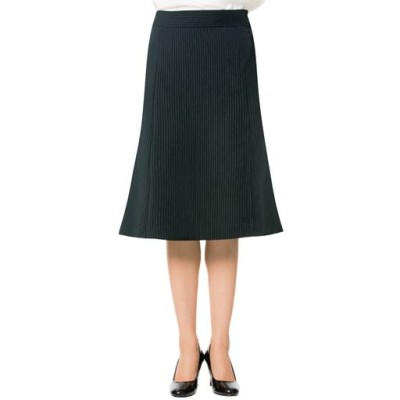 スーツ用マーメイドスカート(事務服・洗濯機OK)/ストライプB(総丈61cm)/64-91