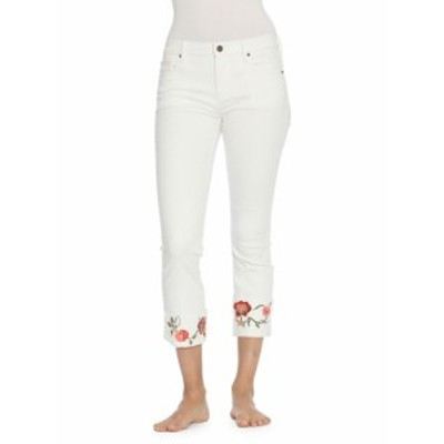 ドリフトウッド レディース パンツ デニム Colette Embroidered Cropped Jeans