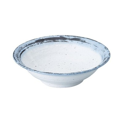 【12/7までSALE!】和食器 美濃焼 なごり雪 石目リム尺鉢 31.0cm