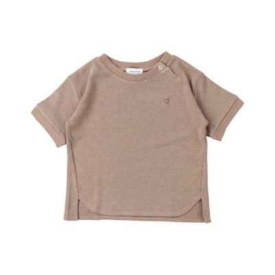 (quoti use fith/クオティユースフィス)カノコ ワイドクルーネックTシャツ/ ブラウン